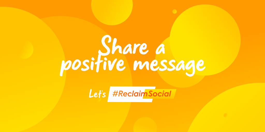 Try sharing a positive message on social