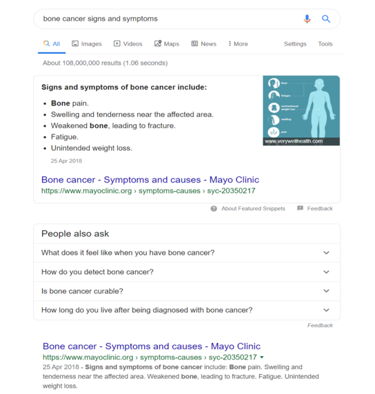 An example of utilising search