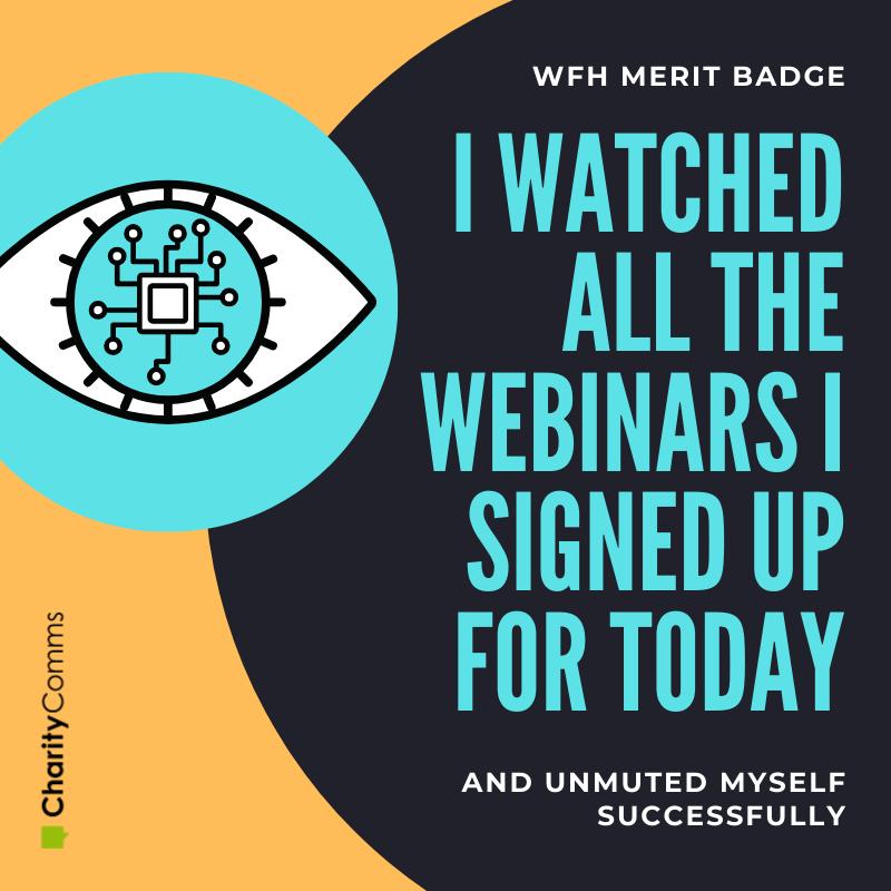 working from home merit badge webinar