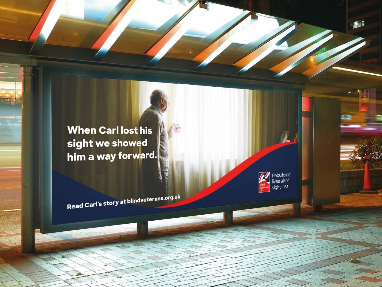 Blind Veterans UK poster