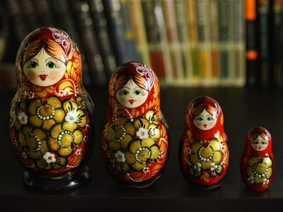 Different sized russian dolls